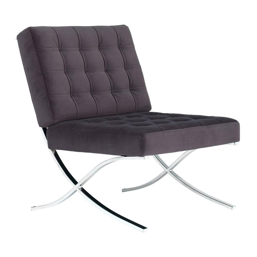 Atrium Velvet Accent Chair Deep Taupe - Studio Designs Home