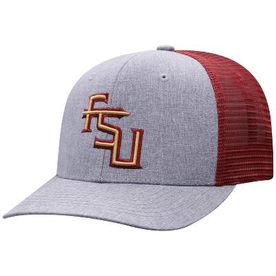 NCAA Florida State Seminoles Men's Gray Chambray with Hard Mesh Snapback Hat