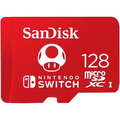 SanDisk 128GB microSDXC Memory card, Licensed for Nintendo Switch