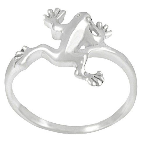 Journee Collection Sterling Silver Jumping Frog Ring - image 1 of 4