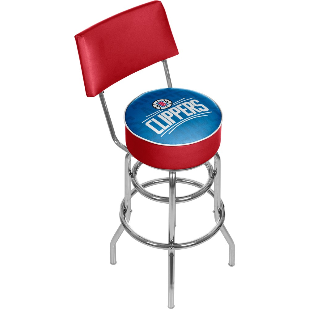 NBA Los Angeles Clippers City Swivel Bar Stool with Back