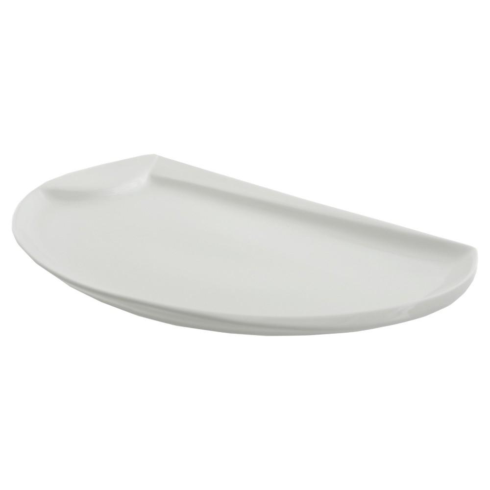 Ten Strawberry Street 22 Oslo Sword Porcelain Serving Platter, White