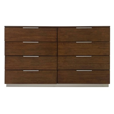 Brylin 8 Drawer Dresser Dark Walnut - Safavieh