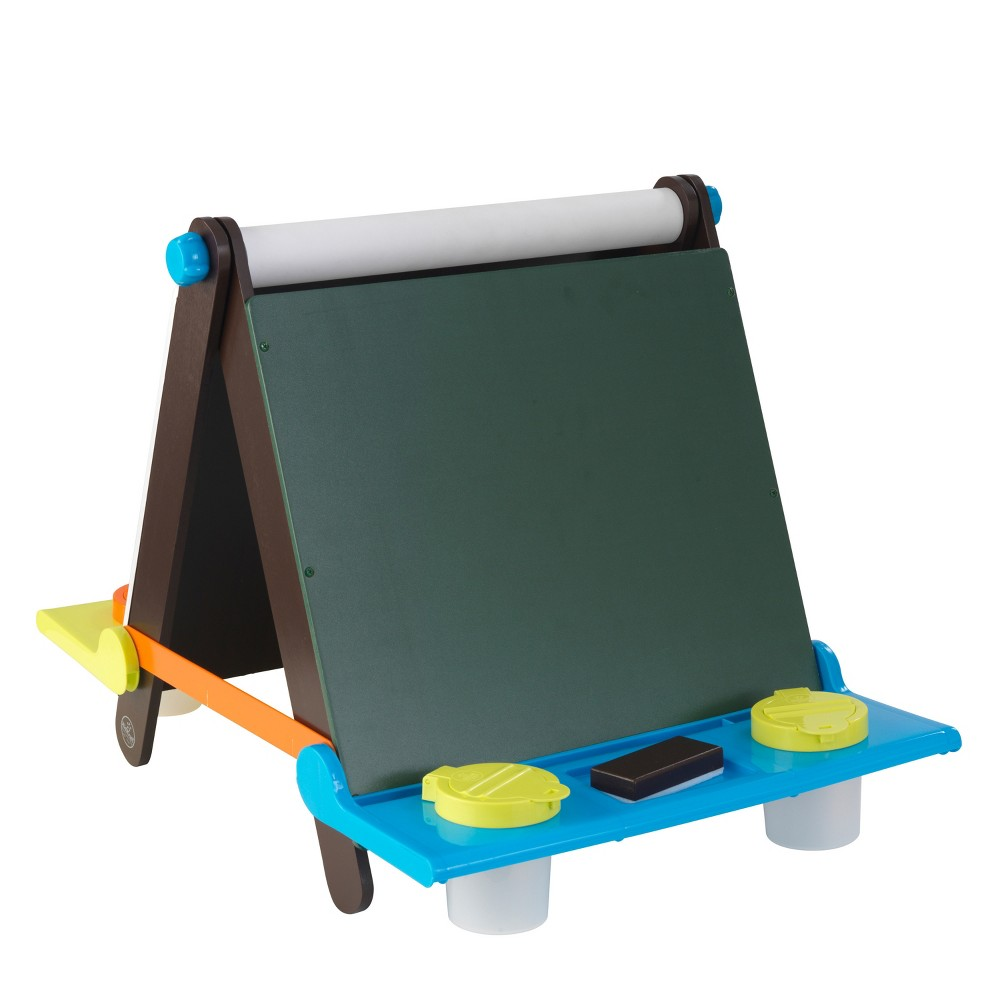 Kid Kraft Tabletop Easel - Espresso with Brights