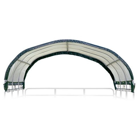 "12' X 12' Corral Shelter 8"" 9 Oz. Green Cover (Corral Panels Not Included) - Shelterlogic - image 1 of 5"