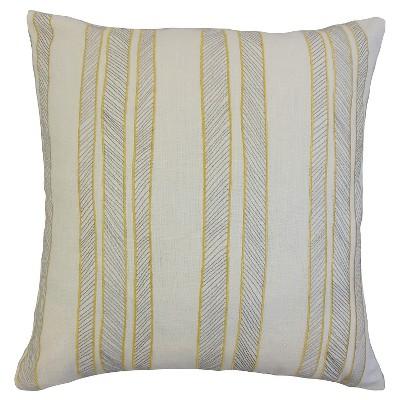 """Indigo Stripe Throw Pillow Holmby (18""""x18"""") - The Pillow Collection"""