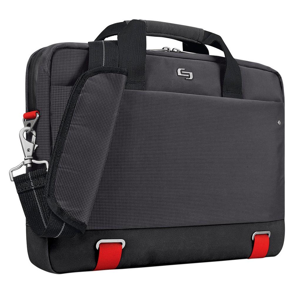 """Image of """"Solo Envoy 15.6"""""""" RFID Slim Briefcase - Black"""""""