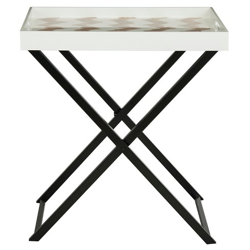 Abba Tray Table Gray/White - Safavieh® - image 1 of 3