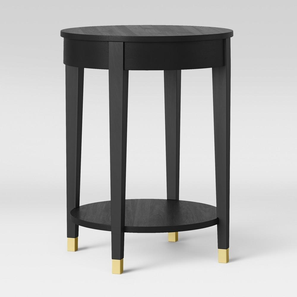 Duxbury Round Side Table Black - Threshold
