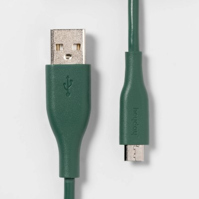 heyday™ 6' USB-A Mirco Cable - Evergreen