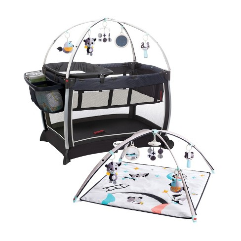 Tiny Love Black and White 6-in-1 Here I Grow Deluxe Baby Play Yard with Bassinet, Play Mat, Toys, and Removable Changer, Magical Night Tales - image 1 of 4