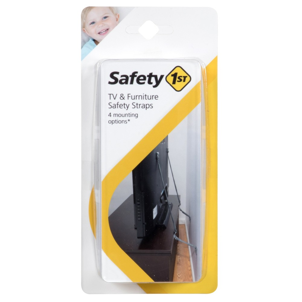Image of Safety 1st TV & Furniture Safety Straps - Gray