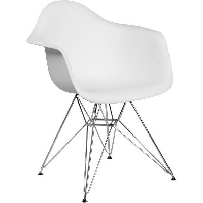Alonza Series Plastic Chair with Arms and Chrome Base - Riverstone Furniture Collection