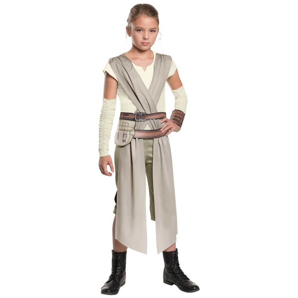 Image of Halloween Star Wars: Episode VII Girls Deluxe Hero Fighter Costume L12-14, Size: Large, MultiColored