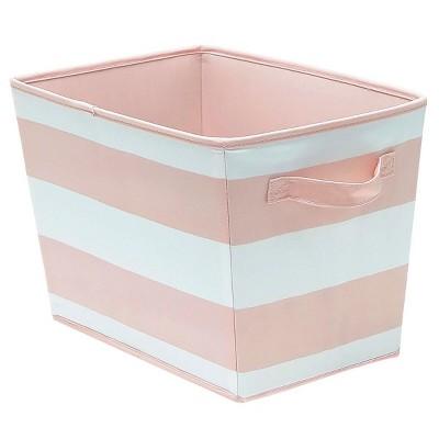 Beau Large Striped Fabric Toy Storage Bin Pink   Pillowfort™