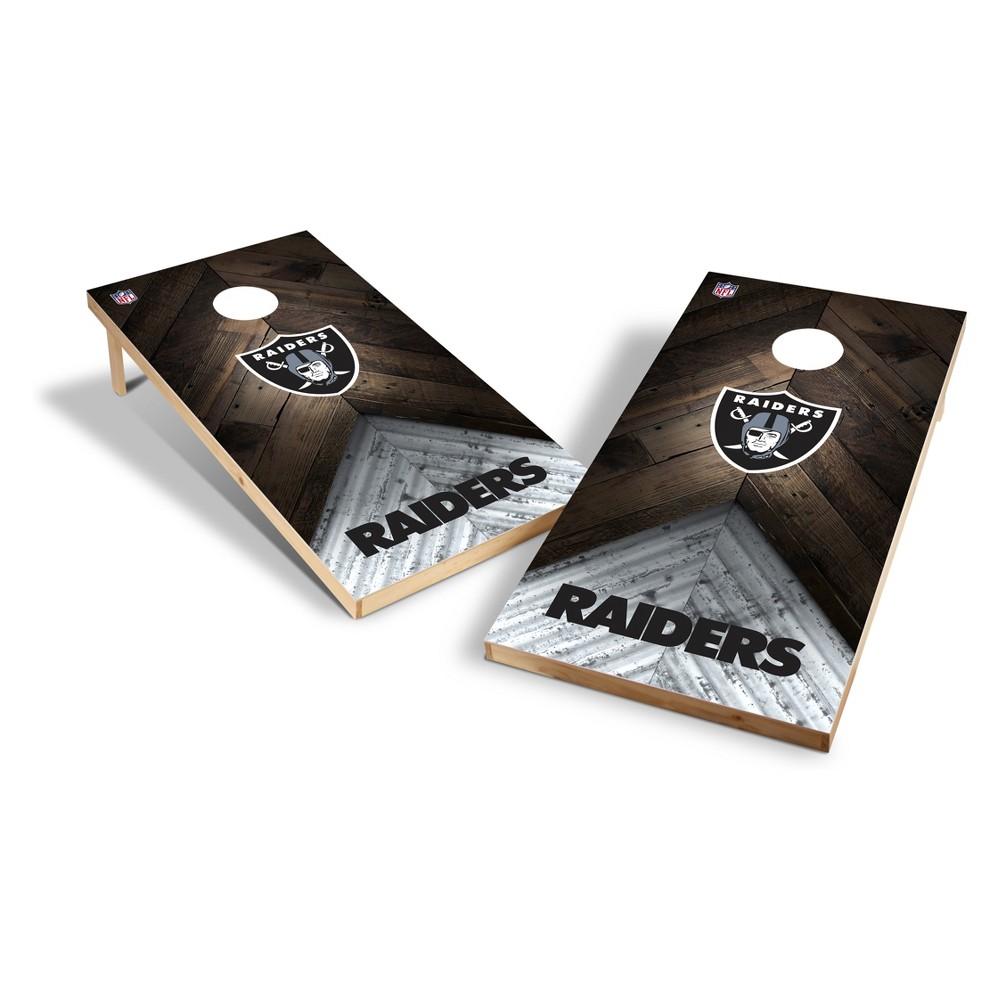 NFL Oakland Raiders 2x4ft Tailgate Toss Cornhole Game