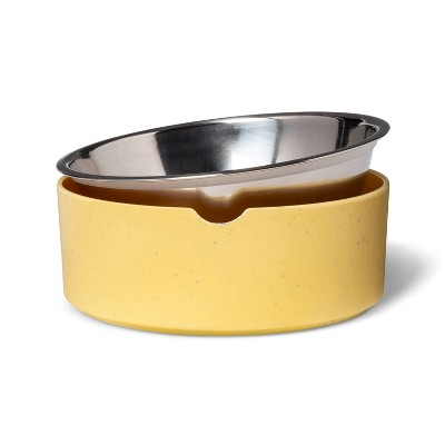 Speckle Melamine Dog Bowl - Yellow - 13oz - Boots & Barkley™