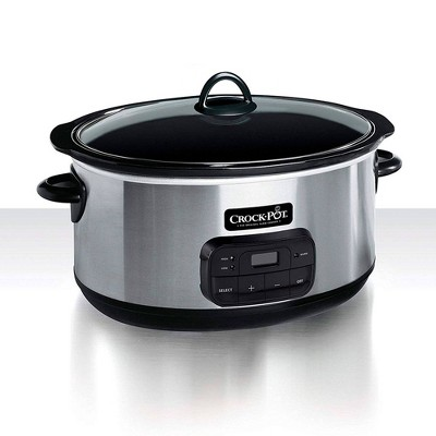 Crock-Pot 8qt Programmable Slow Cooker - Stainless Steel SCCPVZ800S