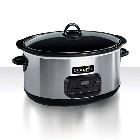 Crock-Pot 8qt Programmable Slow Cooker -  Stainless Steel SCCPVZ800S - image 1 of 4