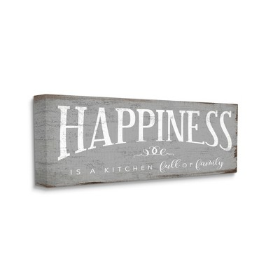 Stupell Industries Happiness is A Full Kitchen Phrase Distressed Paint