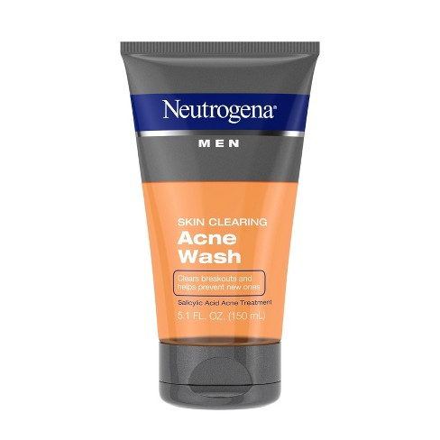 Neutrogena Men Skin Clearing Salicylic Acid Acne Face Wash - 5.1 fl oz - image 1 of 4