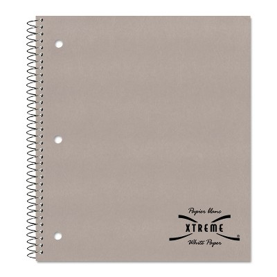National Subject Wirebound Notebook College/Margin Rule 11 x 8 7/8 White 80 Sheets 33709