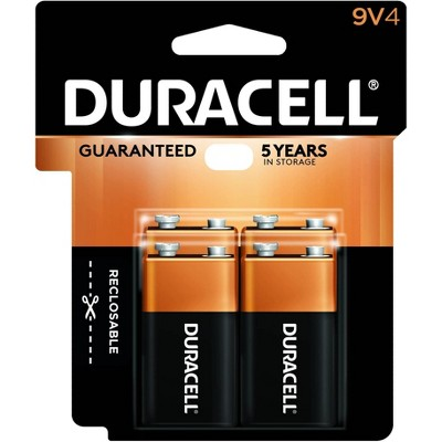 Duracell Coppertop 9V Batteries - 4 Pack Alkaline Battery