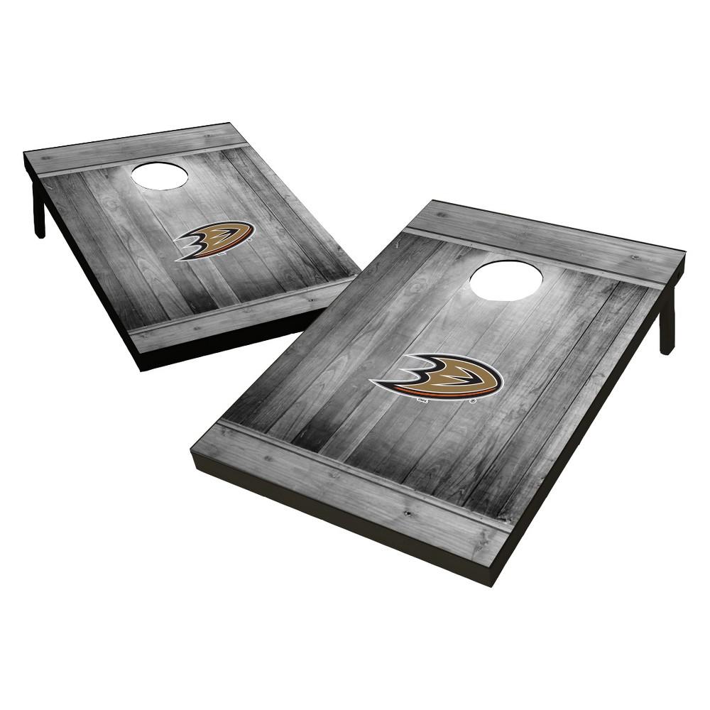 Anaheim Ducks Wild Sports 2x3 Rustic Wooden Plaque Gray Wash Tailgate Toss