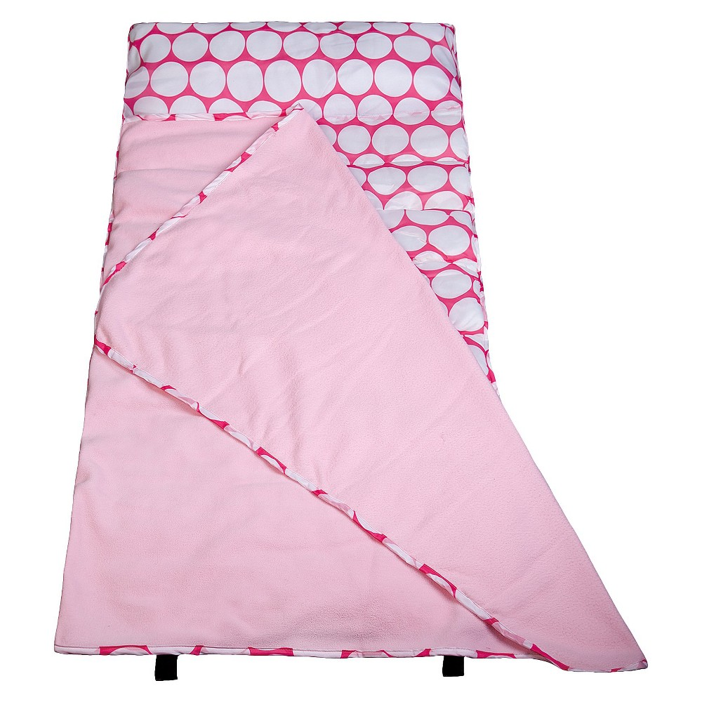 Wildkin Big Dot Easy Clean Nap Mat - Pink/White