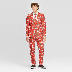 Suitmeister Men's Santa Holiday Suit - Red