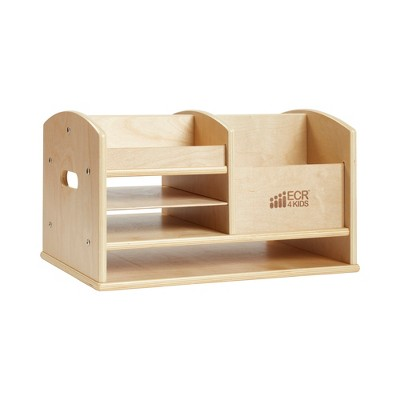 ECR4Kids Birch Tabletop Supplies Storage Center, Teacher Caddy, Wood Desktop Organizer - Natural