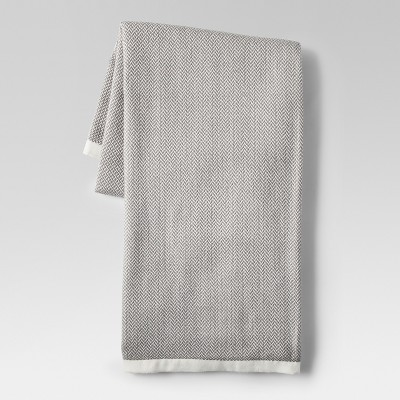 Herringbone Gray Throw Blanket - Project 62™