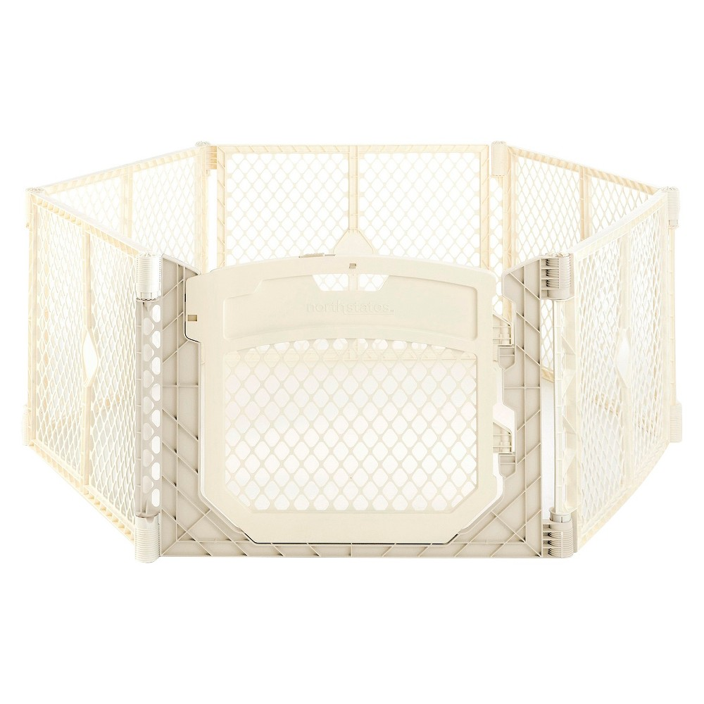 Image of Toddleroo By North States Superyard Ultimate 6 Panel Freestanding Gate