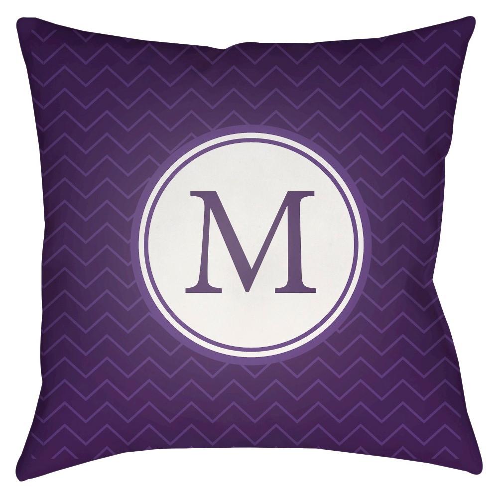 Purple Mu Throw Pillow 18