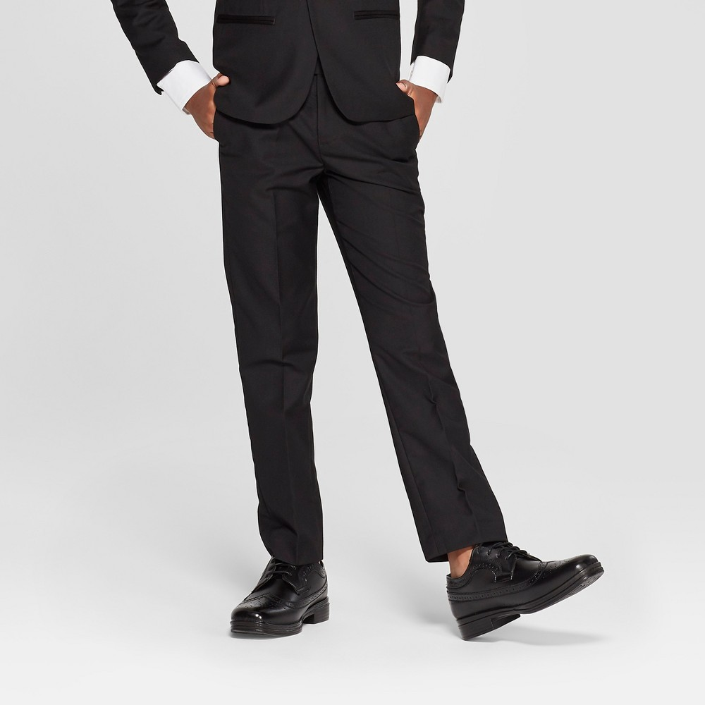 Image of Boys' Tuxedo Pants - WD.NY Black - Black 10, Boy's