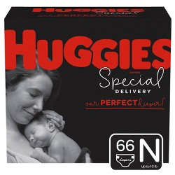 Huggies Special Delivery Disposable Diapers Super Pack - Newborn - 66ct