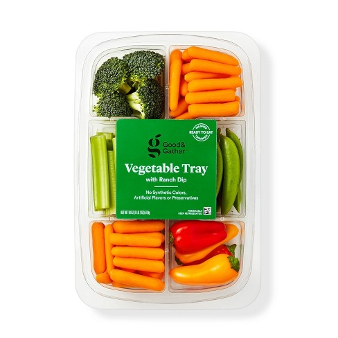 Vegetable Tray with Ranch Dip - 18oz - Good & Gather™ - image 1 of 3