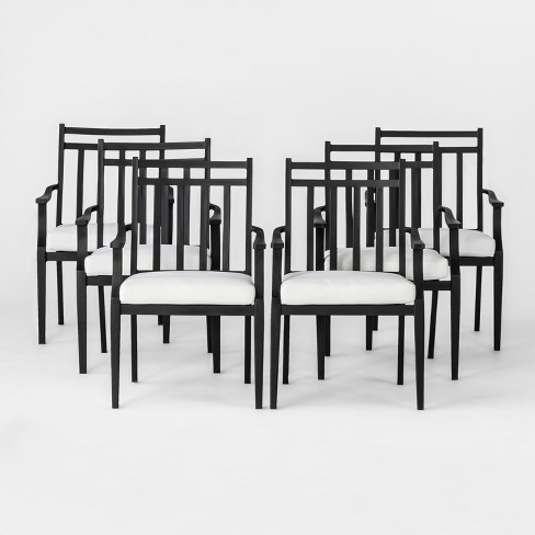 Fairmont 6pk Steel Patio Dining Chairs - Threshold™ - image 1 of 5