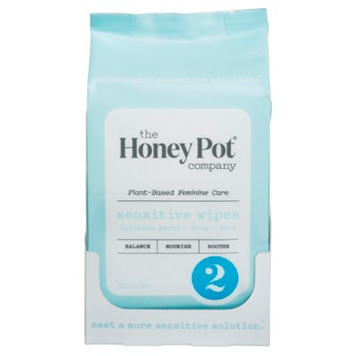 The Honey Pot Sensitive Feminine Wipes   30ct by The Honey Pot