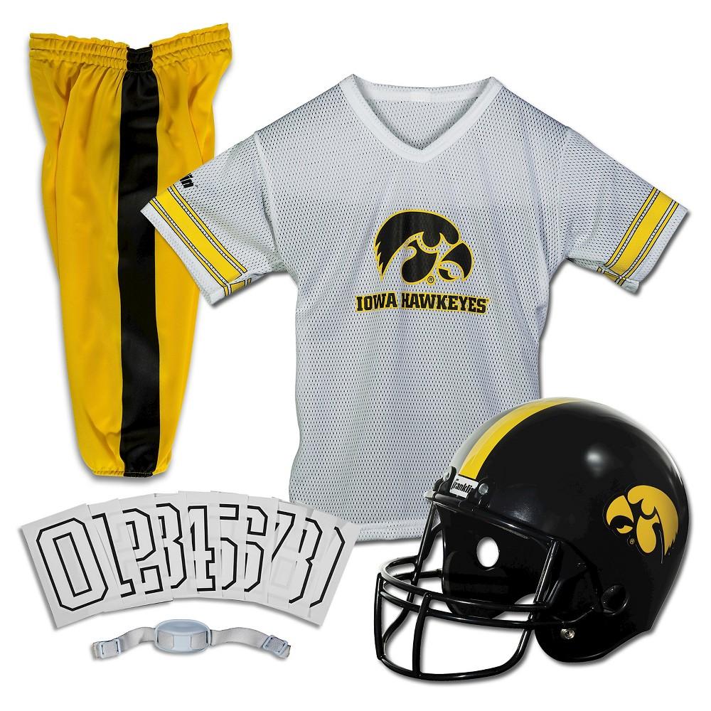 Franklin Sports Team Licensed Iowa Hawkeyes Deluxe Football Uniform Set, Size: Small