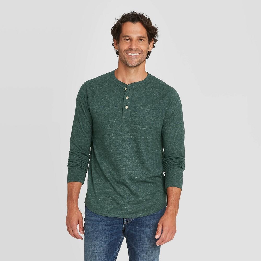 Best Men's Standard Fit Long Sleeve Henley Jersey T-Shirt - Goodfellow & Co™