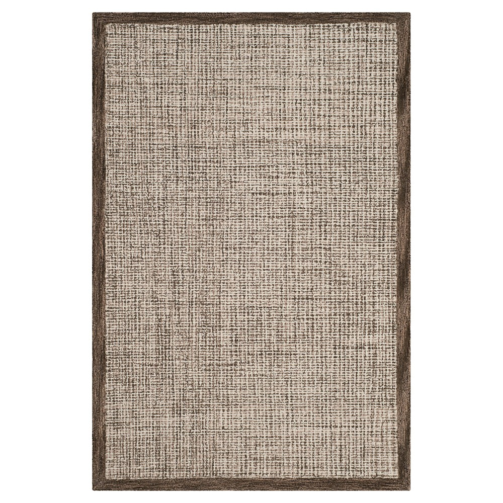Brown/Ivory Abstract Tufted Area Rug - (4'X6') - Safavieh