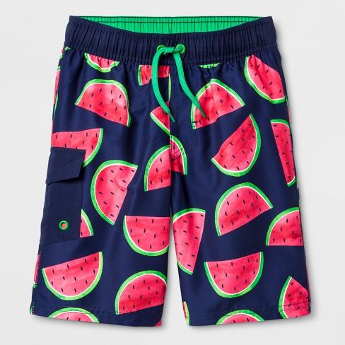 6981a49f56 Boys' Flat Pocket Swim Trunks - Cat & Jack™ Pink : Target