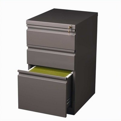Steel 3 Drawer Mobile File Cabinet in Med Tone Brown-Hirsh Industries