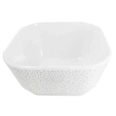 Rounded Square Melamine Polka Dot 45oz Bowl Washed Indigo - Room Essentials™