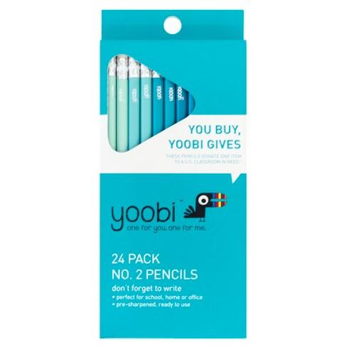 24ct 2 Pencils Pre Sharpened 2mm Aqua Ombre Yoobi Target