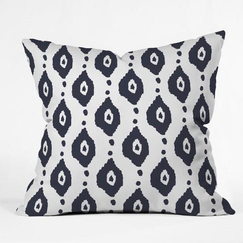 Blue Ikat Design Throw Pillow - Deny Designs - image 1 of 4
