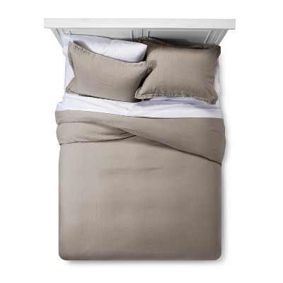 Afternoon Tea Linen Duvet Cover Set (Full/Queen)- Fieldcrest®