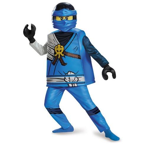 Ninjago Halloween Costume.Lego Ninjago Boys Jay Deluxe Halloween Costume Target