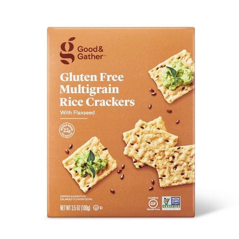 Gluten Free Multi-grain with Flax Rice Crackers - 3.5oz - Good & Gather™ - image 1 of 4
